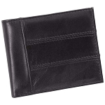[DEMO] Men's Solid Genuine Leather Bi-Fold Wallet with RFID Security